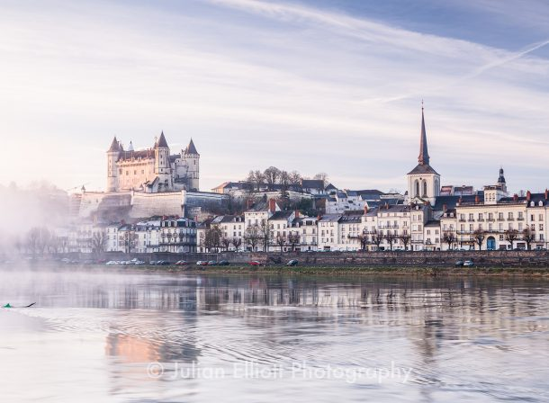 The city of Saumur and its chateau.