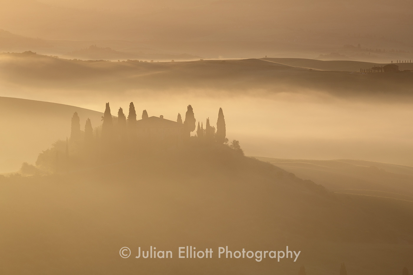 The Val d'Orcia in Tuscany.