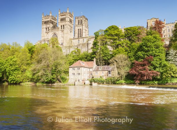 Durham cathedral in the city of Durham, UK