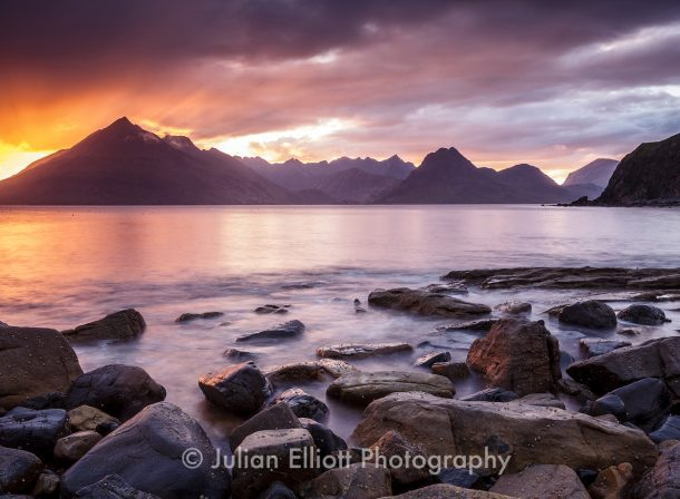 Loch Scavaig and the Cuillin Hills