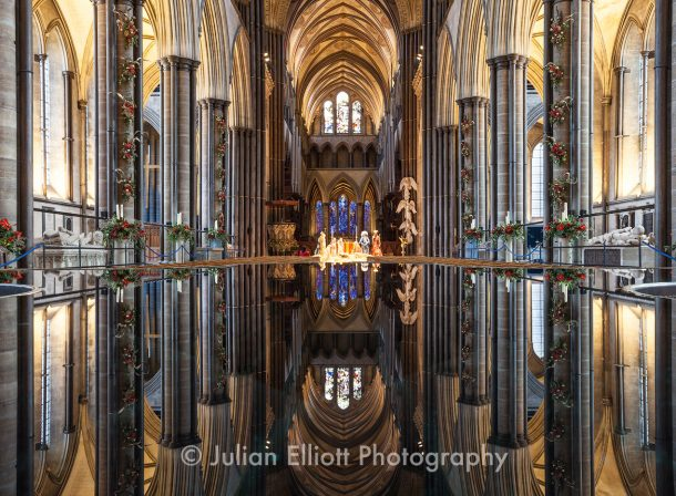 The font of Salisbury cathedral