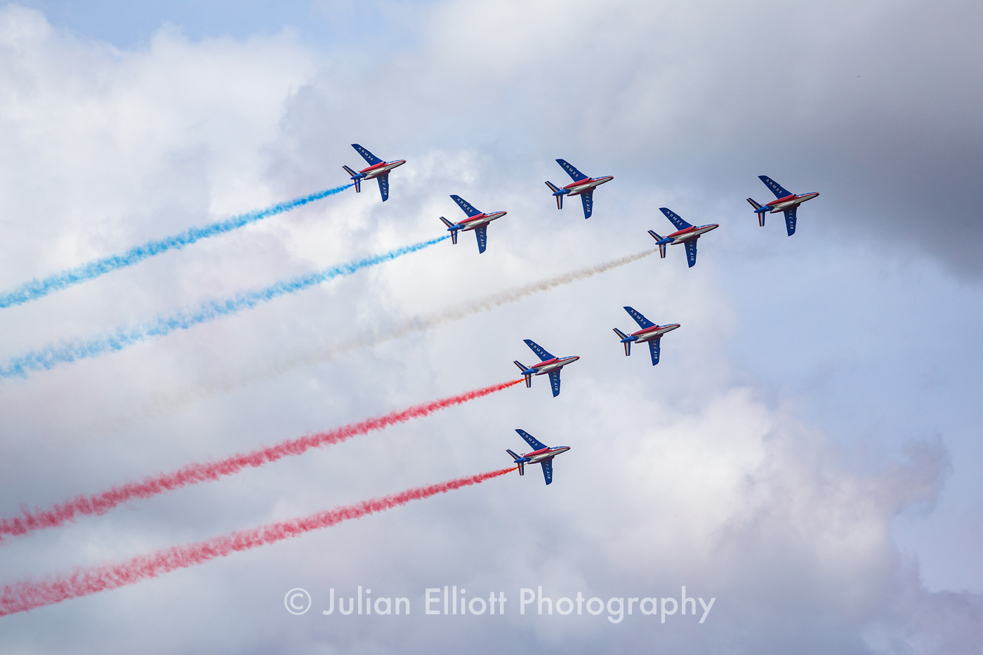 Jets from the Patrouille de France