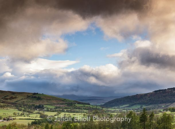 Storm clouds over the Lake District national park
