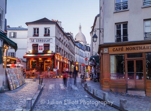 Le Consulat café in Montmartre, Paris.