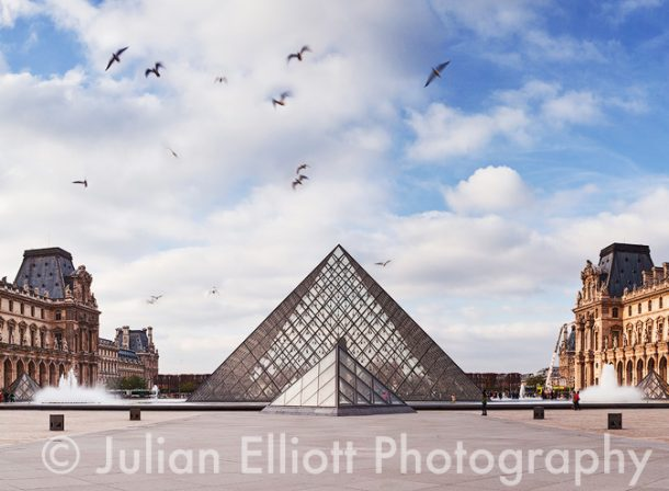 The Musée du Louvre in Paris, France.