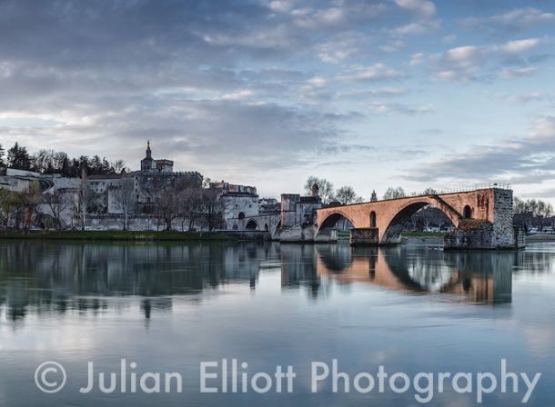 The Pont d'Avignon in Avignon, France.