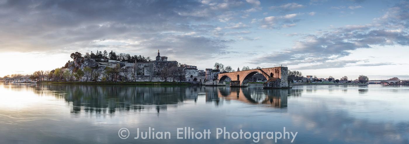The Pont d'Avignon in Avignon, France.