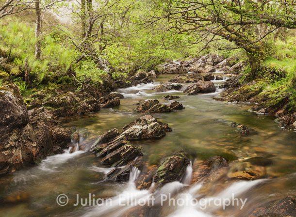 The river Undalain in Glen Undalain.