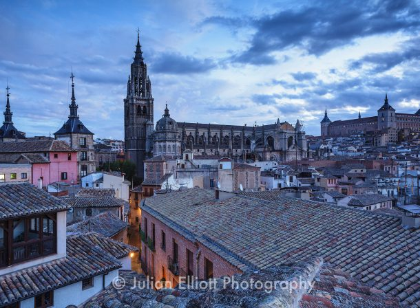 Toledo at dawn in Spain