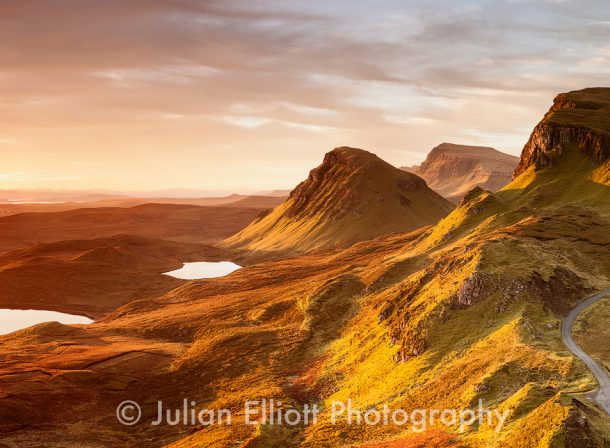 Dawn light on the Trotternish Ridge on the Isle of Skye, Inner Hebrides, Scotland, UK.