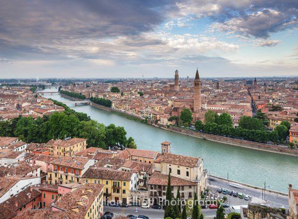 Verona from Piazzale Castel San Pietro