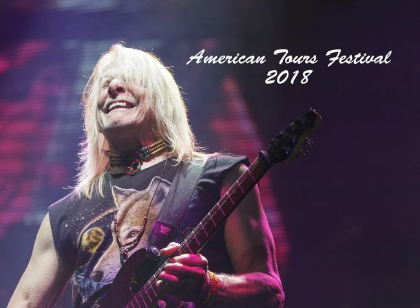Steve Morse the lead guitarist of Deep Purple at the annual American Tours Festival, Tours, France.