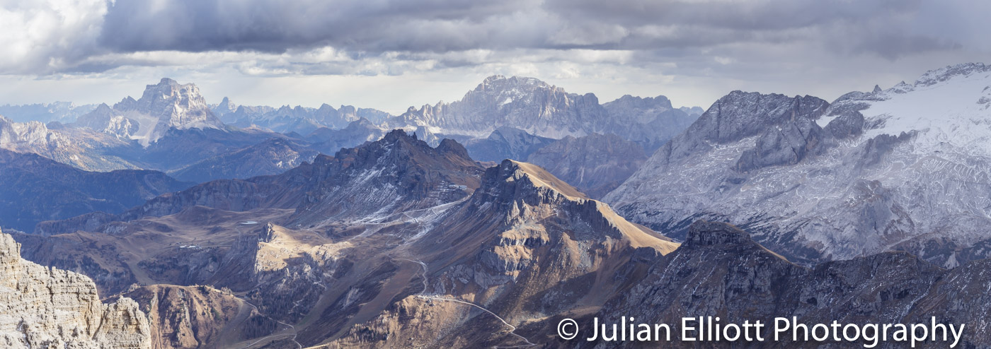 The high mountains of the Dolomites in South Tyrol, Italy.