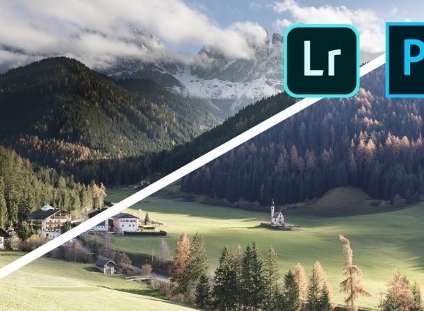 How to edit LANDSCAPE photos with Adobe Lightroom & Adobe Photoshop