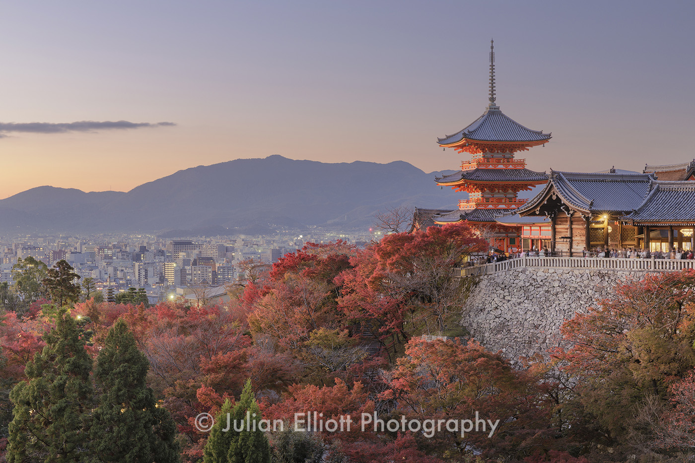 Autumn color at Kiyomizu-dera temple in Kyoto