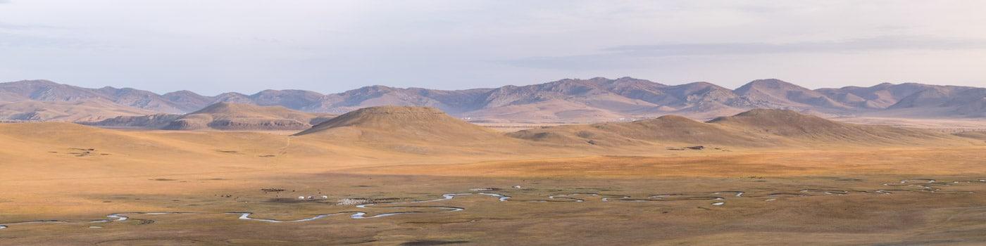 Khangai Mountains in Mongolia