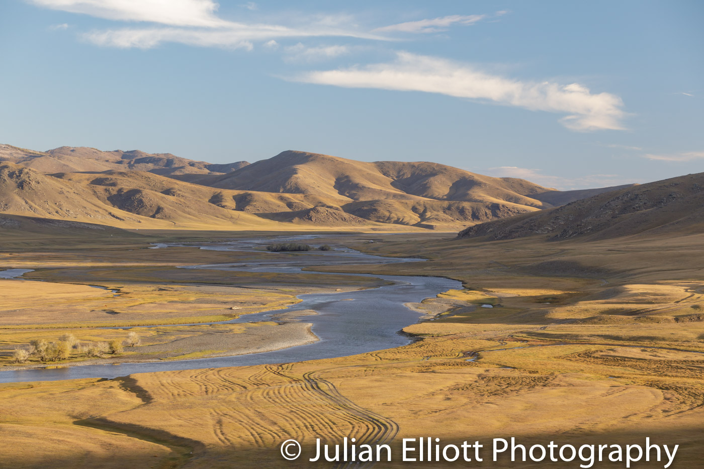 The beautiful Orkhon river valley in Mongolia.