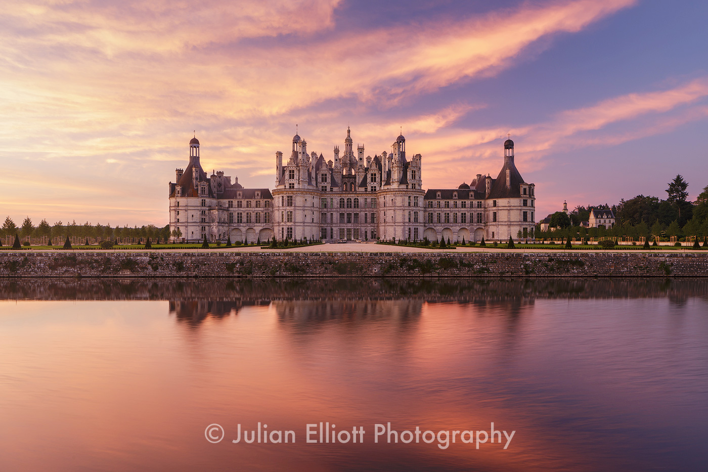 The chateau of Chambord in France.
