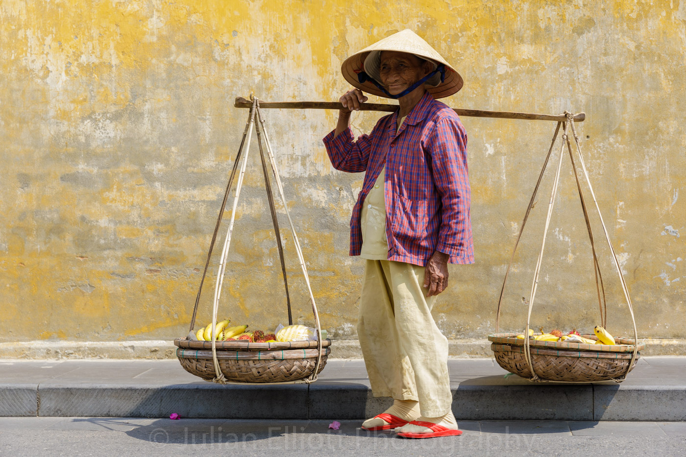 A street vendor in Hoi An, Vietnam.