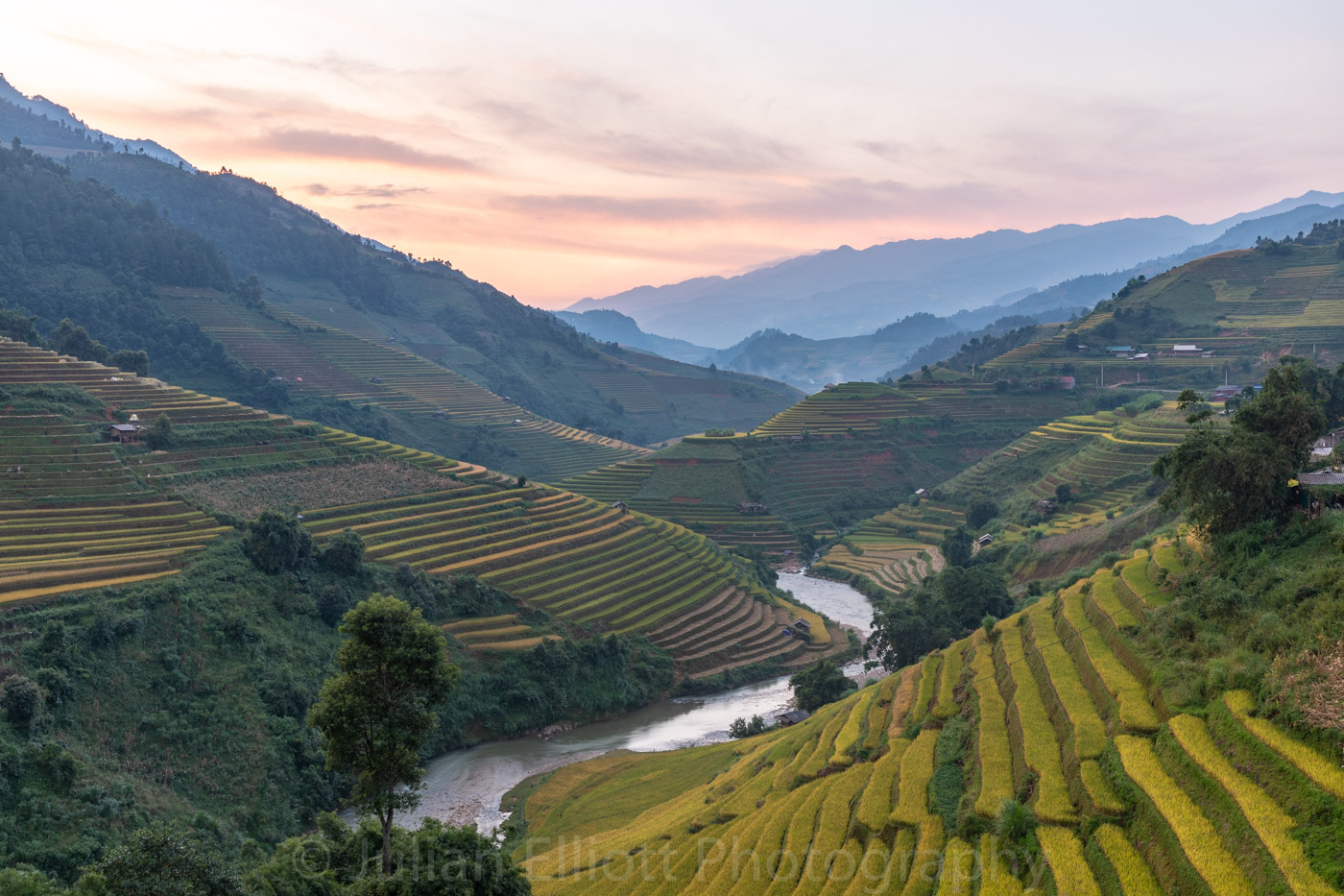 Rice terraces in Mu Cang Chai, Vietnam.