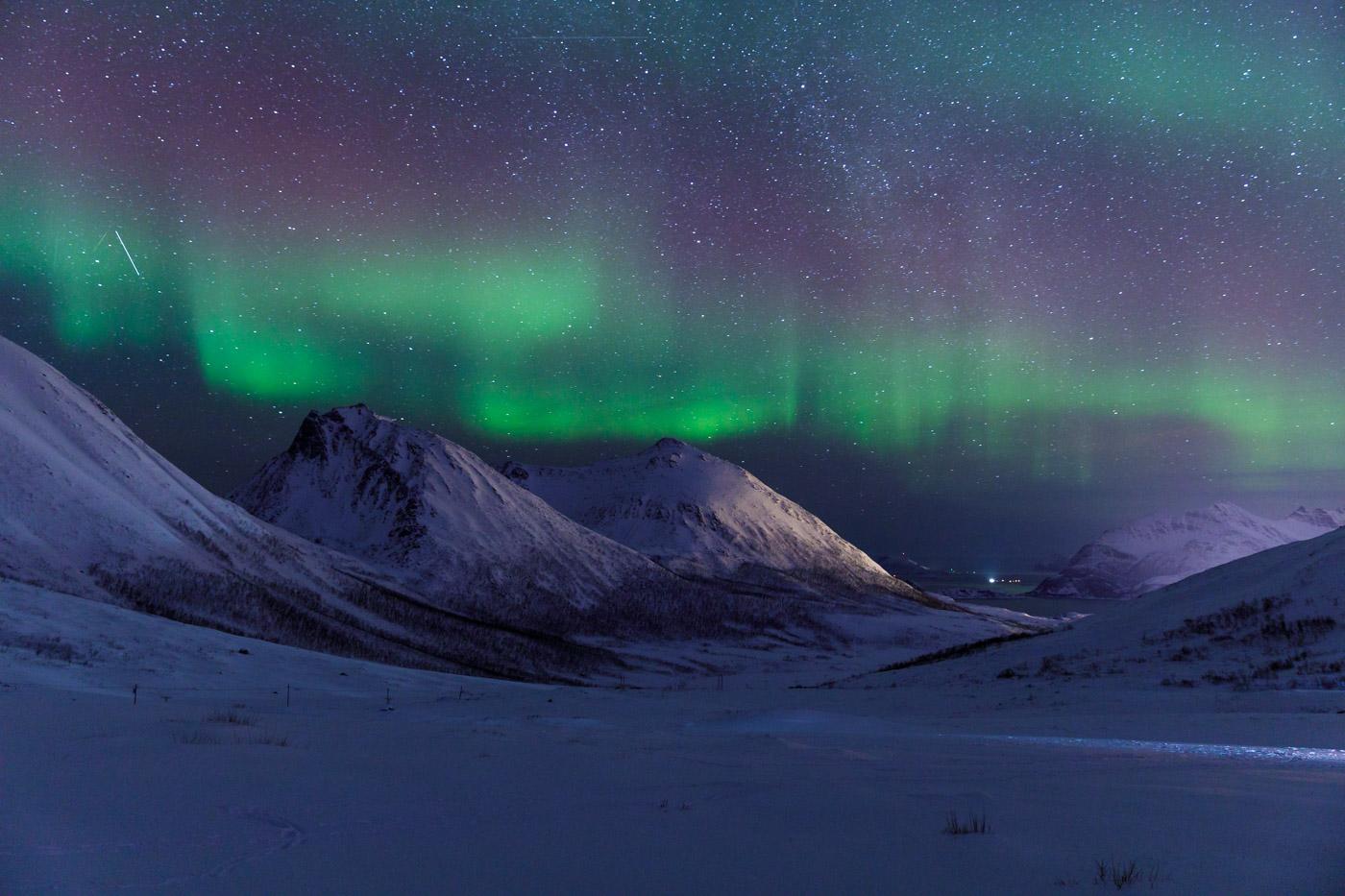 The northern lights or aurora borealis